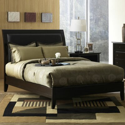 Hudson Upholstered Platform Bed Size: Queen