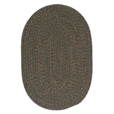 Abey Oliver Green Area Rug Rug Size: Oval 5 x 8