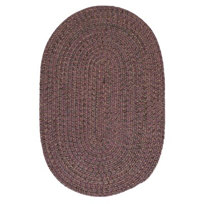 Abey Plum Purple Area Rug Rug Size: Oval 7 x 9