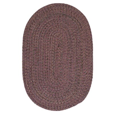 Abey Plum Purple Area Rug Rug Size: Oval 2 x 4
