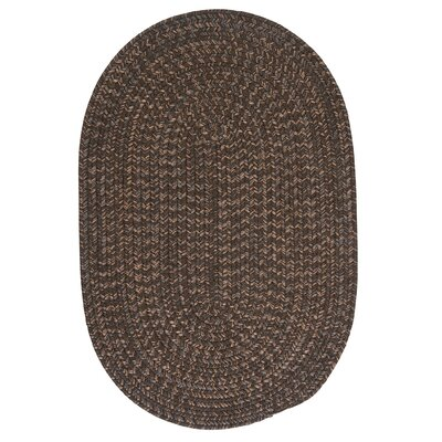 Abey Bark Brown/Tan Area Rug Rug Size: Round 4