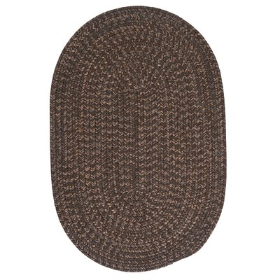 Abey Bark Brown/Tan Area Rug Rug Size: Oval 7 x 9