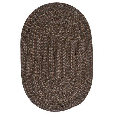 Abey Bark Brown/Tan Area Rug Rug Size: Oval 3 x 5