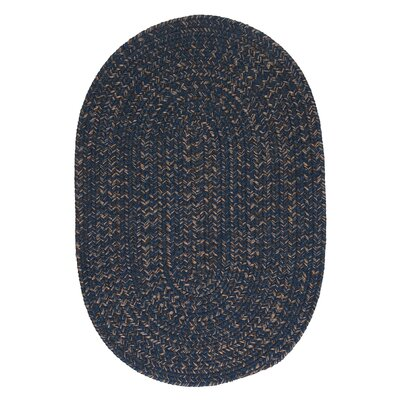 Abey Navy & Blue Area Rug Rug Size: Oval Runner 2 x 8