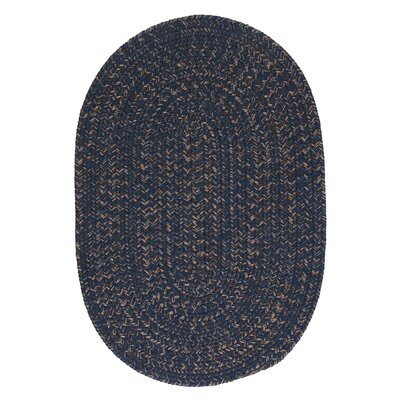 Abey Navy & Blue Area Rug Rug Size: Oval 7 x 9