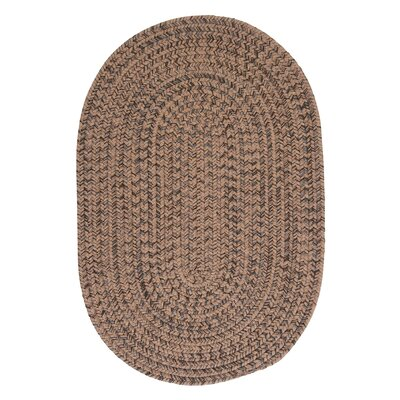 Abey Mocha Brown/Tan Area Rug Rug Size: Oval 3 x 5