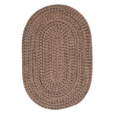 Abey Mocha Brown/Tan Area Rug Rug Size: Oval 7 x 9