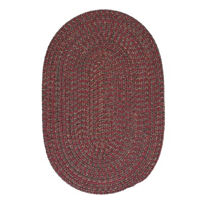 Abey Berry Red Area Rug Rug Size: Oval 5 x 8