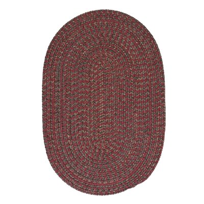Abey Berry Red Area Rug Rug Size: Oval 3 x 5