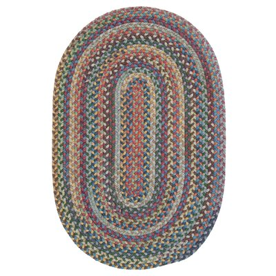 Morris Hand-Woven Wool Red/Brown Area Rug Rug Size: Oval 3 x 5