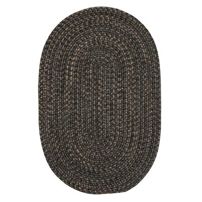 Abey Charcoal Area Rug Rug Size: Oval 5 x 8
