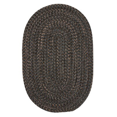 Abey Charcoal Area Rug Rug Size: Oval 12 x 15