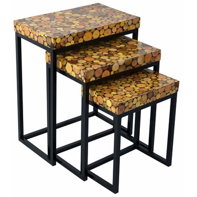 Fris 3 Piece End Table Set
