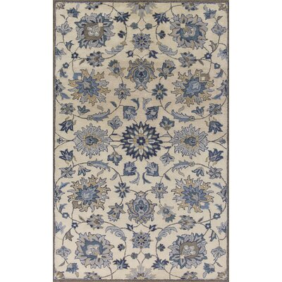 Glade Park-Gateway Hand-Tufted Ivory/Gray Area Rug Rug Size: Runner 23 x 76