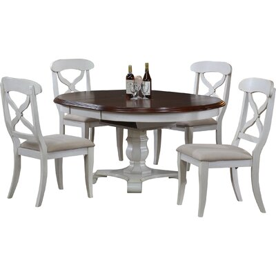 Lockwood Butterfly Leaf 5 Piece Dining Set Finish: Antique White