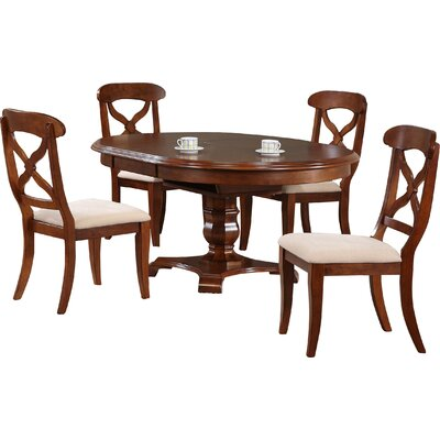 Lockwood Butterfly Leaf 5 Piece Dining Set Finish: Chestnut