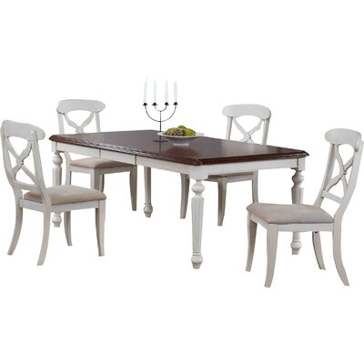 Lockwood 5 Piece Pub Table Set Color: Antique White