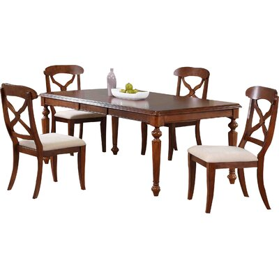 Lockwood 5 Piece Pub Table Set Color: Chestnut