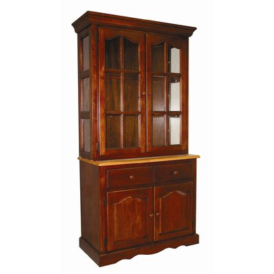 Lockwood Lighted China Cabinet Color: Nutmeg / Rich Honey Light Oak