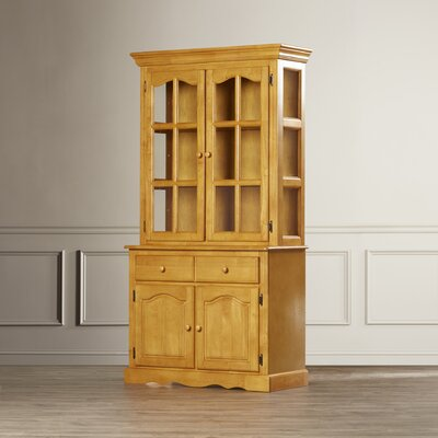 Lockwood Lighted China Cabinet Color: Rich Honey Light Oak