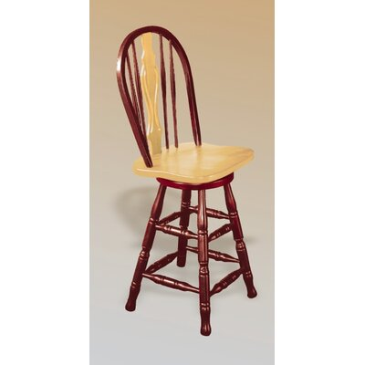 Lockwood 24 Swivel Bar Stool Finish: Nutmeg / Rich Honey Light Oak