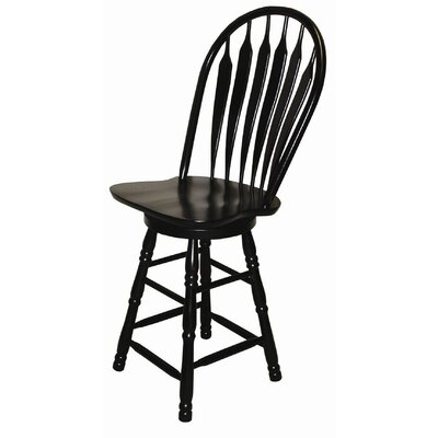 Lockwood 24.25 Swivel Bar Stool Finish: Antique Black