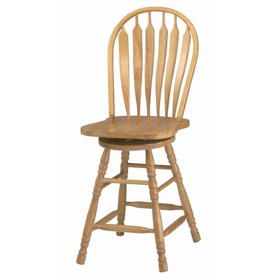 Lockwood 24.25 Swivel Bar Stool Finish: Rich Honey Light Oak