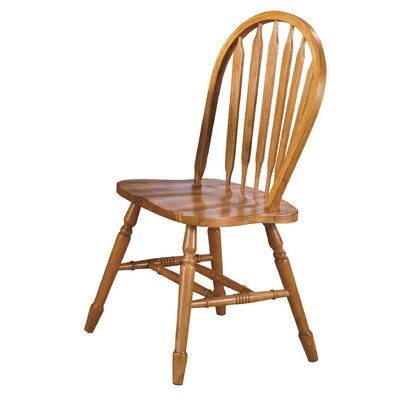 Lockwood Arrow Back Solid Wood Dining Chair Finish: Light Oak