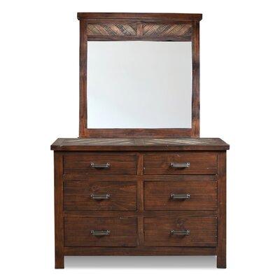 Culbertson 6 Drawer Dresser with Mirror