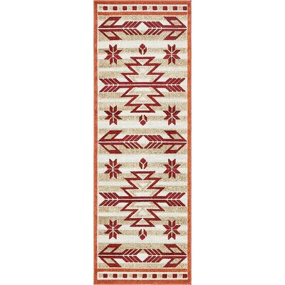 Lochbuie Burgundy Area Rug Rug Size: Runner 2' x 6'
