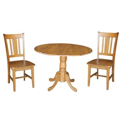 Cherokee 3 Piece Drop Leaf Dining Set Color: Pecan