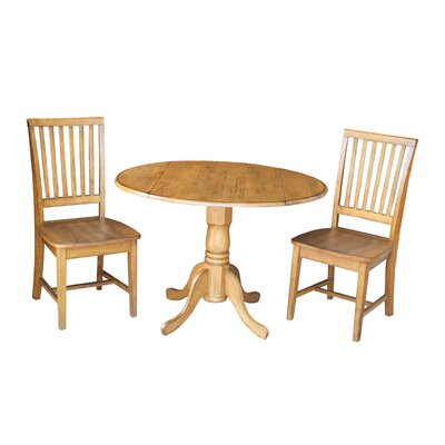 Pine Tree 3 Piece Drop Leaf Dining Set Color: Natural