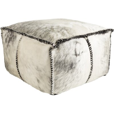 Campion Pouf Leather Ottoman Upholstery: White