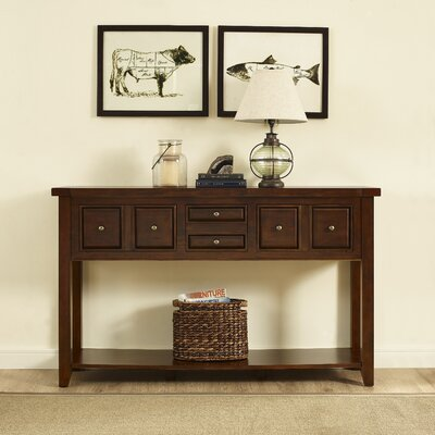 Ordway Console Table Finish: Rustic Mahogany