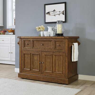 Ordway Kitchen Island with Marble Top Base Finish: Moroccan Pine