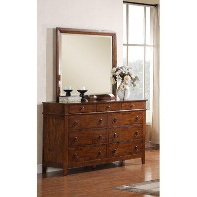 Del City 9 Drawer Dresser with Mirror