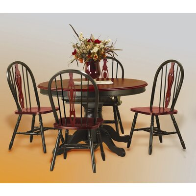 Medford 5 Piece Dining Set Finish: Antique Black with Cherry