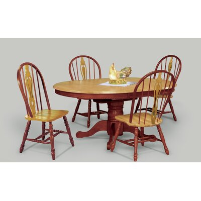 Medford 5 Piece Dining Set Finish: Nutmeg Light Oak