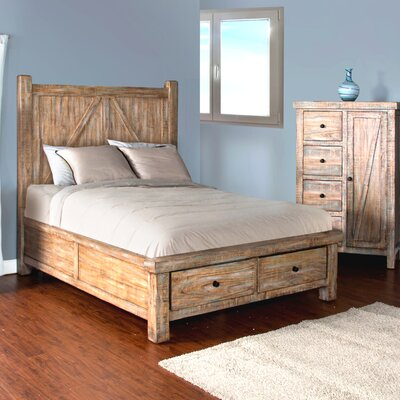 Herman Storage Panel Bed Size: King