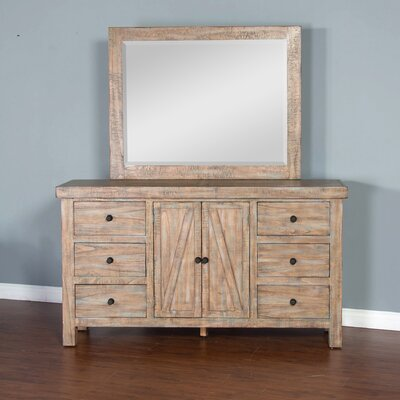 Herman 6 Drawer Dresser with Mirror