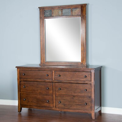 Goldfield 6 Drawer Dresser with Mirror