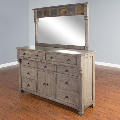 Packard 9 Drawer Dresser with Mirror