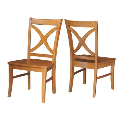 Redondo Solid Wood Dining Chair Finish: Aged Cherry