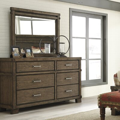 Belen 6 Drawer Dresser with Mirror