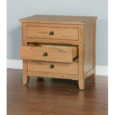 Framingham 3 Drawer Nightstand