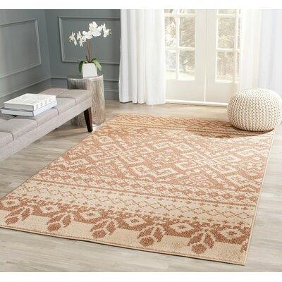 St. Ann Highlands Camel/Chocolate Area Rug Rug Size: Round 8