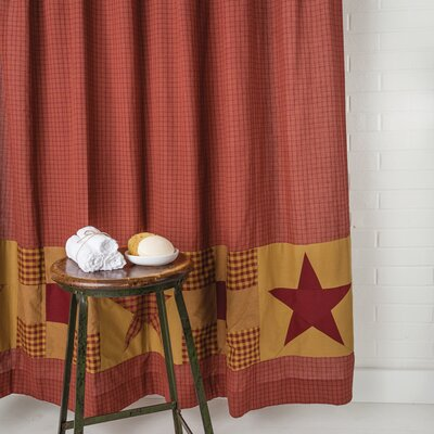 Silverthorne Cotton Shower Curtain with Patchwork Border