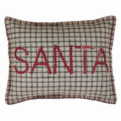 Weston Button Santa Felt Throw Pillow