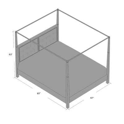 Segula Upholstered Canopy Bed Size: King