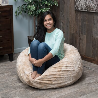 Beige Bean Bag Chair